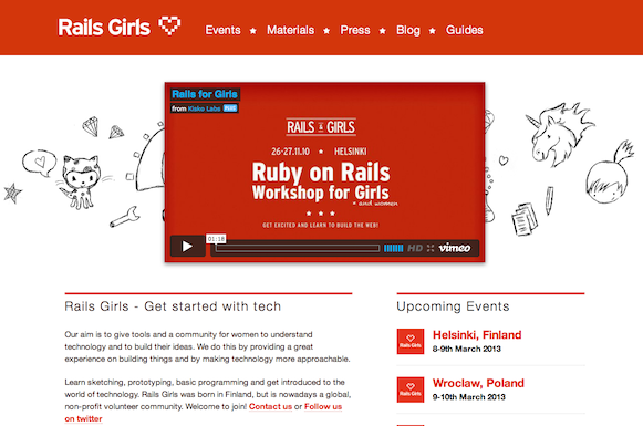写真は http://railsgirls.com から